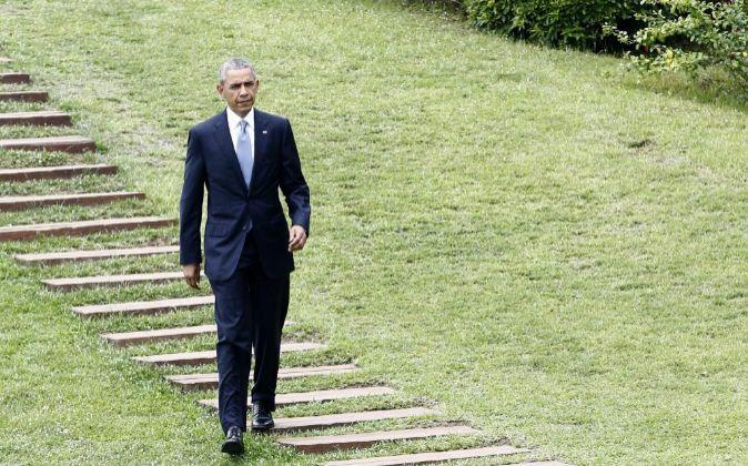 El presidente estadounidense durante su visita a Japón.
