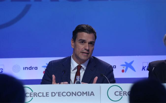 El líder del PSOE, Pedro Sánchez, hoy en la Reunión del Círculo de...