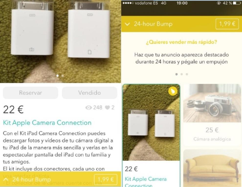 Imagen tomada por un usuario madrileño de la aplicación.