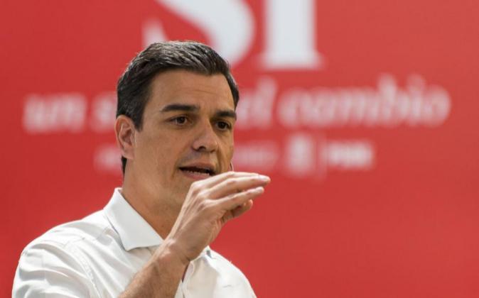 El candidato del PSOE a la presidencia del Gobierno, Pedro Sánchez
