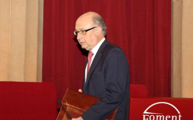 Cristóbal Montoro, la semana pasada en Barcelona.