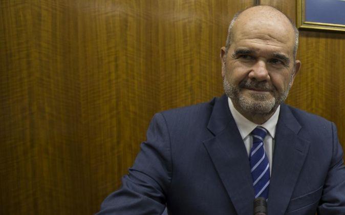 Manuel Chaves, al inicio de su comparecencia ante la comisión de...