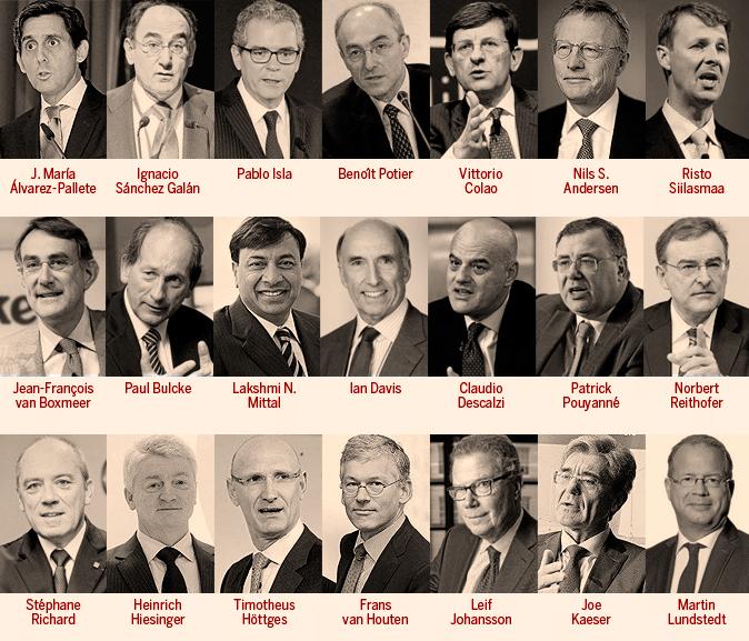 Los firmantes de las grandes empresas europeas contra el Brexit.