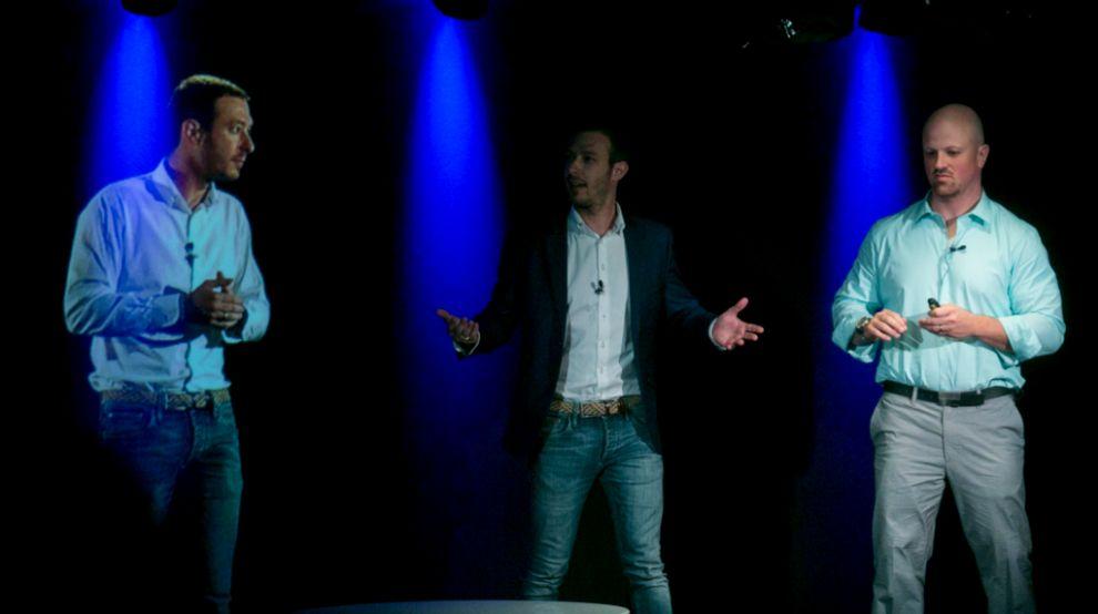 Juan Merodio (izquierda) y David Newman (derecha) durante la...