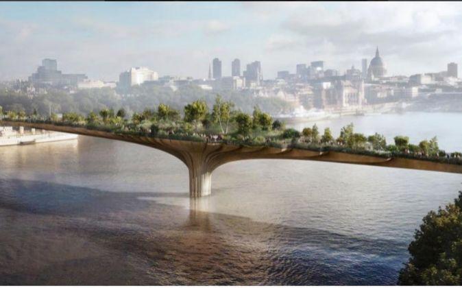 El Garden Bridge tendrá 366 metros de largo y estará finalizado en...