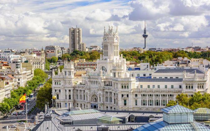 Vistas del Ayuntamiento de Madrid.