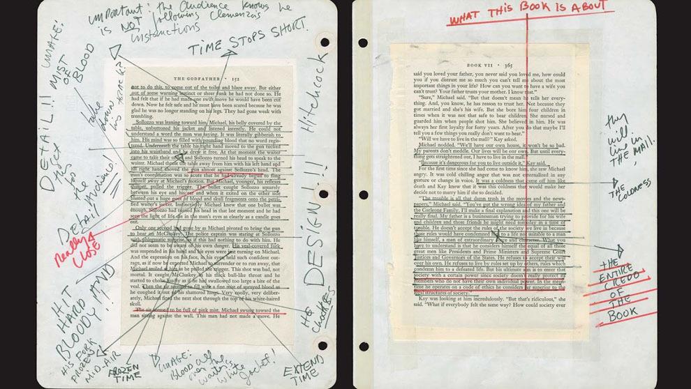"""Interior del libro """"The Godfather Notebook"""" en el que se..."""