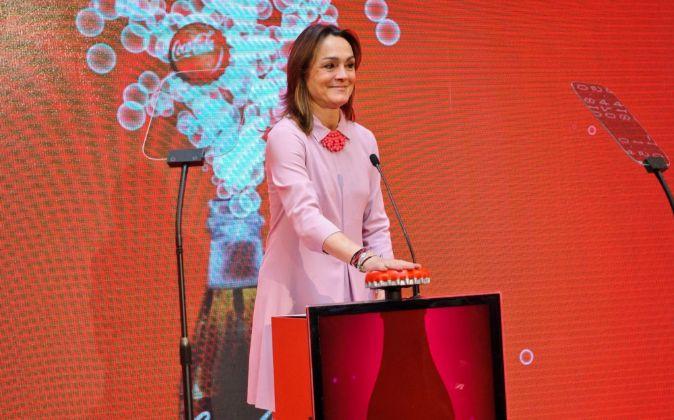 Sol Daurella, presidenta de Coca-Cola European Partners, en el estreno...