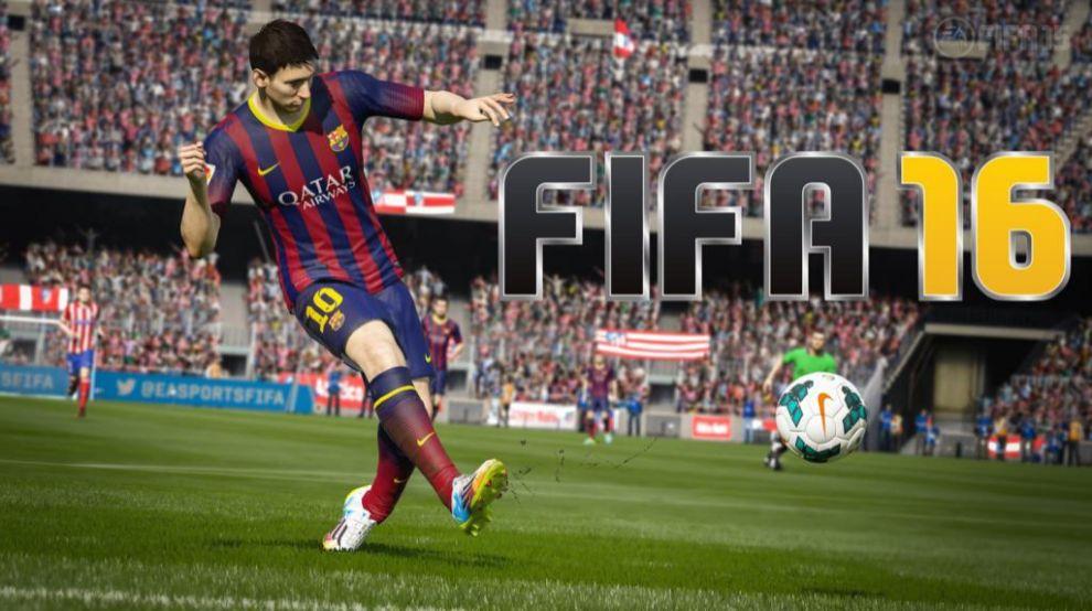 Imagen promocional del FIFA 16, el videojuego más vendido en España...