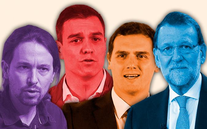 Imagen de los cuatro principales candidatos a la presidencia del...