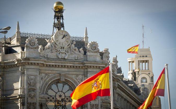 Imagen de la fachada del Banco de España, en Madrid.
