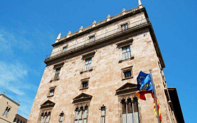 Palau de la Generalitat Valencia,a sede del Gobierno en Valencia.