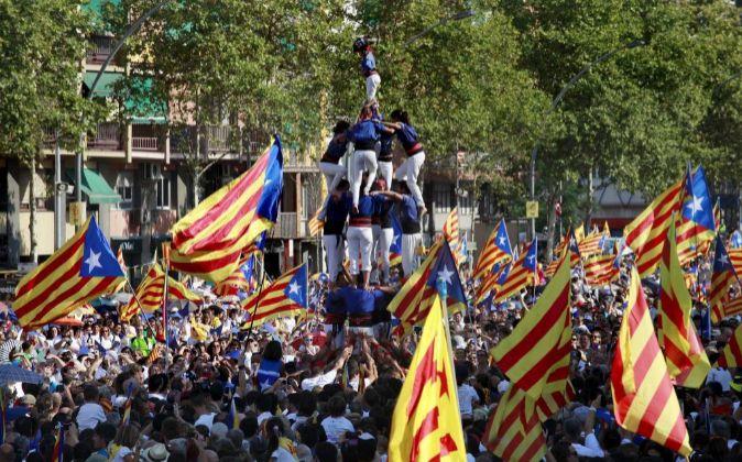 Manifestación independentista en Barcelona por la Diada del pasado 11...