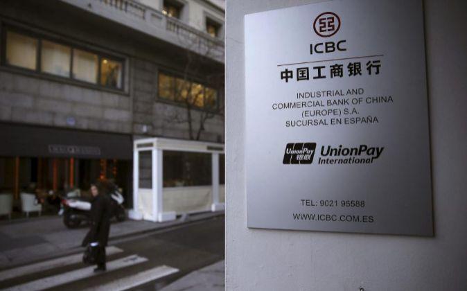 Sede en Madrid del Comercial Bank of China (ICBC).