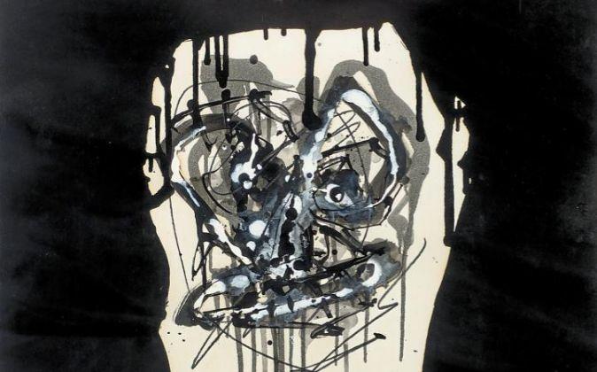 'Retrato imaginario',  de Antonio Saura.