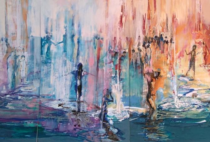 """Un fragmento del gran mural """"La ínsula de los sentidos"""" que..."""