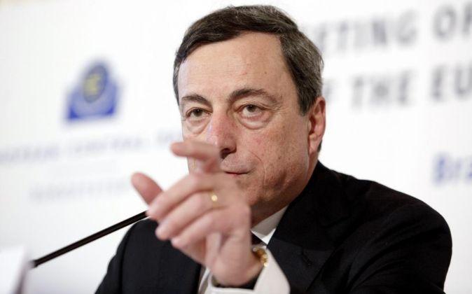 Imagen de archivo de Mrio Draghi, presidente del BCE