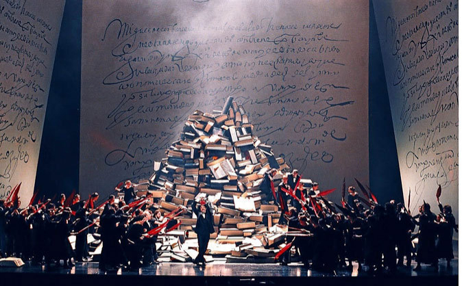 Representación en 2000 de la ópera 'Don Quijote' en el...
