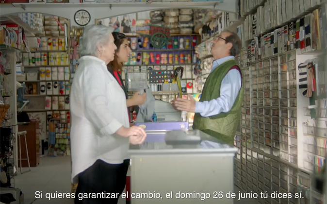 Fotograma del último vídeo electoral del PSOE.