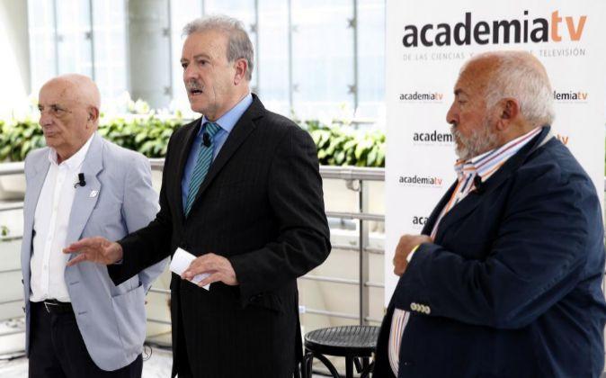 El presidente de la Academia de la Televisión, Manuel Campo Vidal, en...