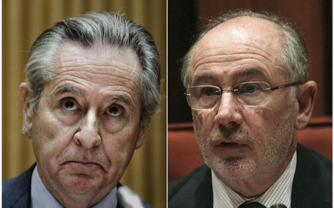 Los expresidentes de Caja Madrid Miguel Blesa y Rodrigo Rato.