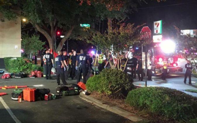 Fotografía del lugar donde se encuentra el pub de Florida atacado, en...