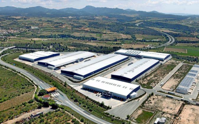 Vista aéra del complejo logístico de Vila-rodona, donde EGD...