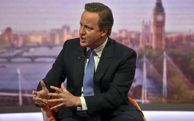 David Cameron, primer ministro de Reino Unido.