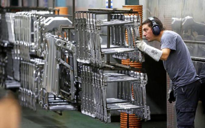 Imagen de la fábrica de Viza Automoción en Porriño (Pontevedra).