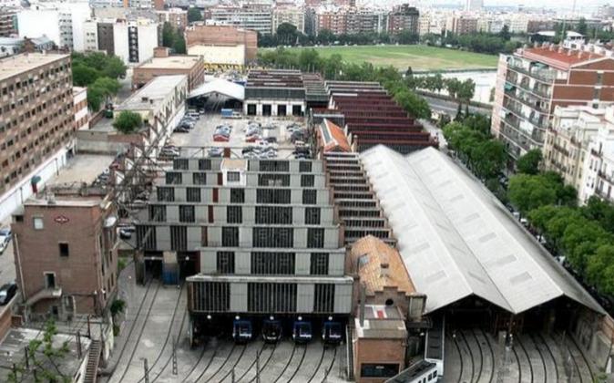 Estado actual de la cocheras de Metro en Cuatro Caminos, solar que se...