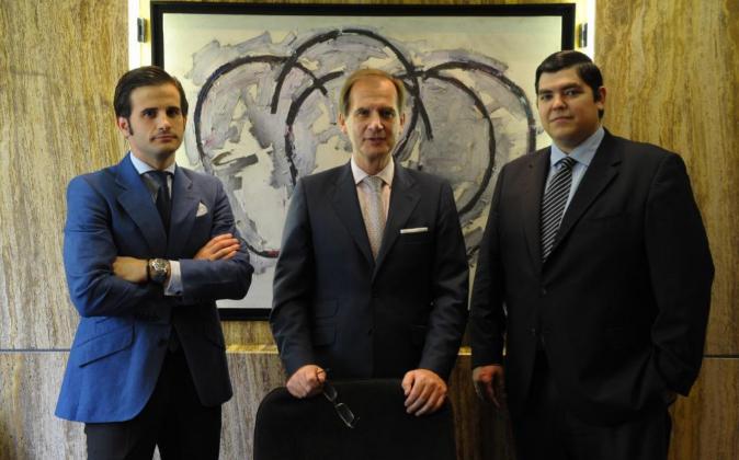 De izquierda, a derecha, Luis Cazorla González-Serrano, Luis Cazorla...