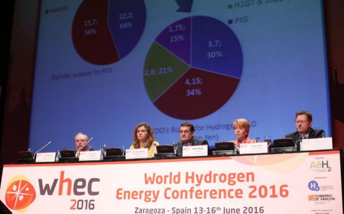 Fotografía de la segunda sesión del Congreso Mundial del Hidrógeno.