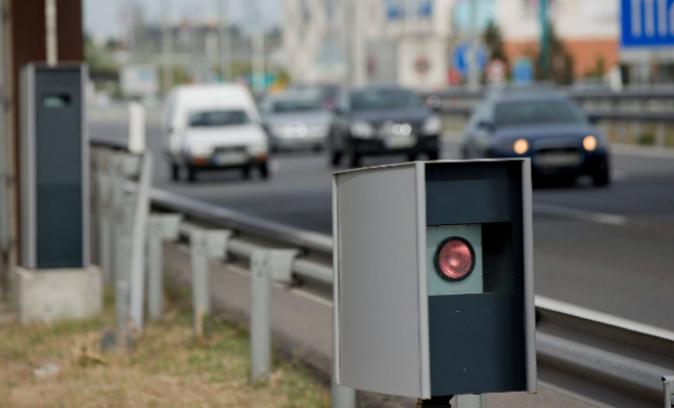 Radar de control de velocidad en el kilometro 15.9 de la A2
