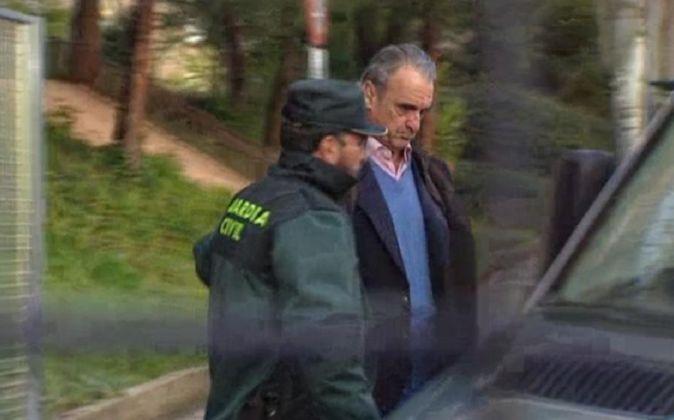 Mario Conde en el momento de su detención el pasado abril.
