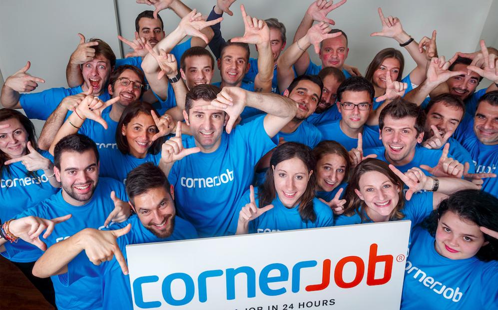 CORNERJOB. El lema es conseguir trabajo en 24 horas, se trate del...