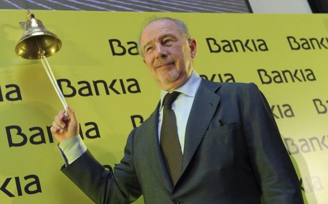 Rodrigo Rato, en la salida a bolsa de Bankia.