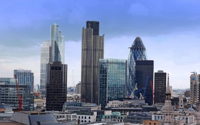 Barrio financiero de Londres.