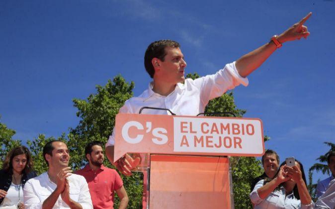 El presidente de Ciudadanos y candidato a la presidencia del Gobierno...
