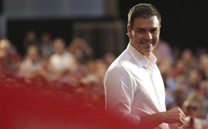 El candidato del PSOE a la Presidencia del Gobierno Pedro Sánchez.