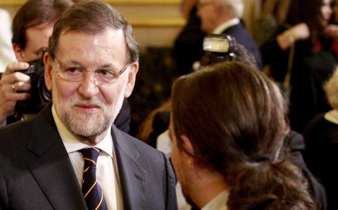 El presidente del Gobierno y candidato del PP a la reelección,...