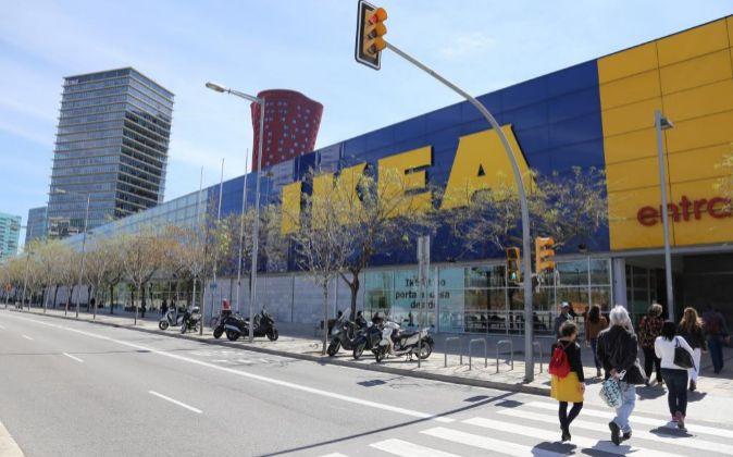 Tienda Ikea en la Gran Vía de Barcelona.