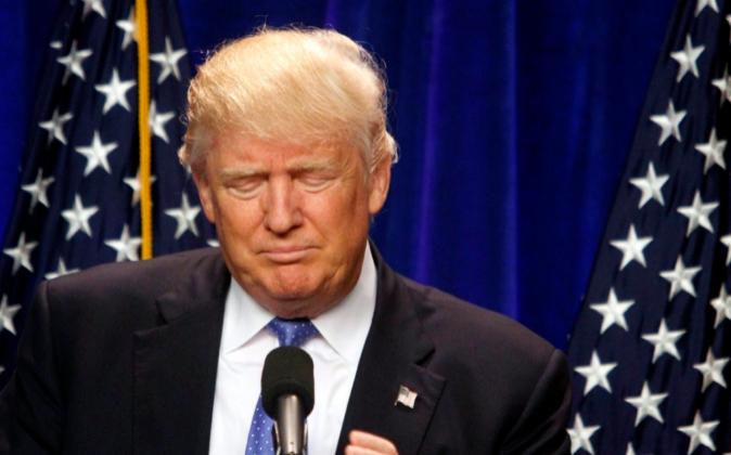 El virtual candidato republicano a la presidencia del EEUU, Donald...