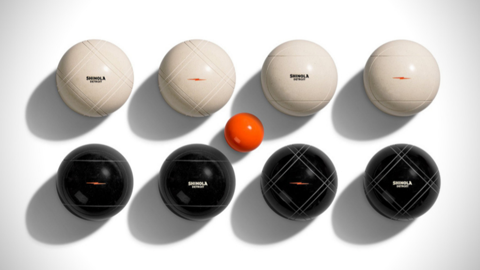 Shinola lanza su nueva colección de bolas de bocce. Una mezcla de...