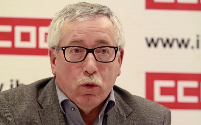 El secretario general de Comisiones Obreras (CCOO), Ignacio Fernández...