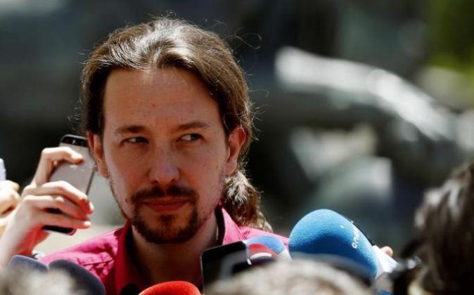 El candidato de Unidos Podemos a la Presidencia del Gobierno, Pablo...