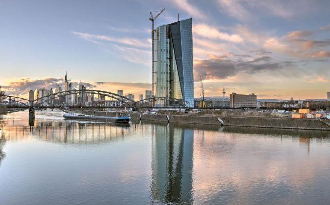 Sede del Banco Central Europeo de  Fráncfort.