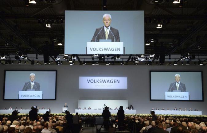 El presidente del Consejo de Volkswagen, Matthias Müller, participa...
