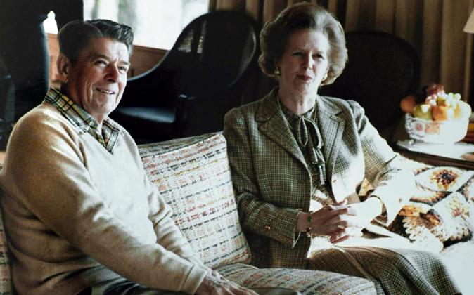 Ronald Reagan y Margaret Thatcher compartían ideas y manera de hacer...