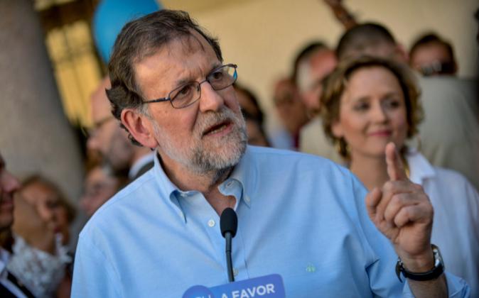 El presidente del Gobierno en funciones y candidato del PP a las...
