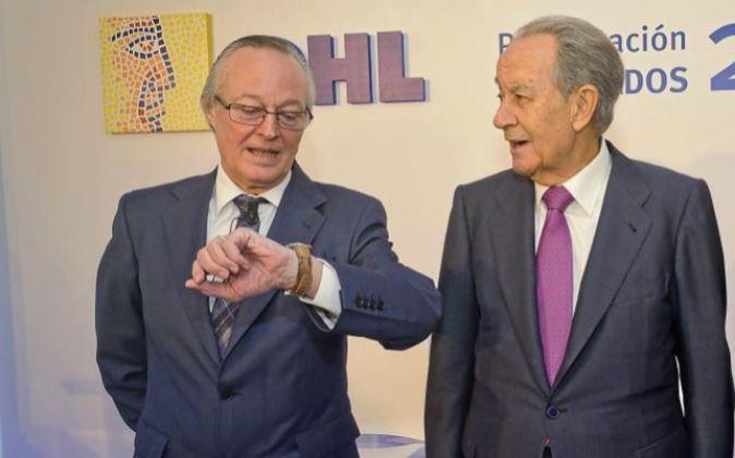 Josep Piqué y Juan Miguel Villar Mir en una de sus últimas...
